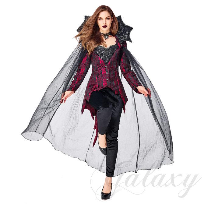 魔女 デビル 魔法使い ウォッチ シャーマン女王 クイーン 吸血鬼 ヴァンパイア バンパイア S-XL ハロウィン 演出用 コスプレ衣装(ps3822)