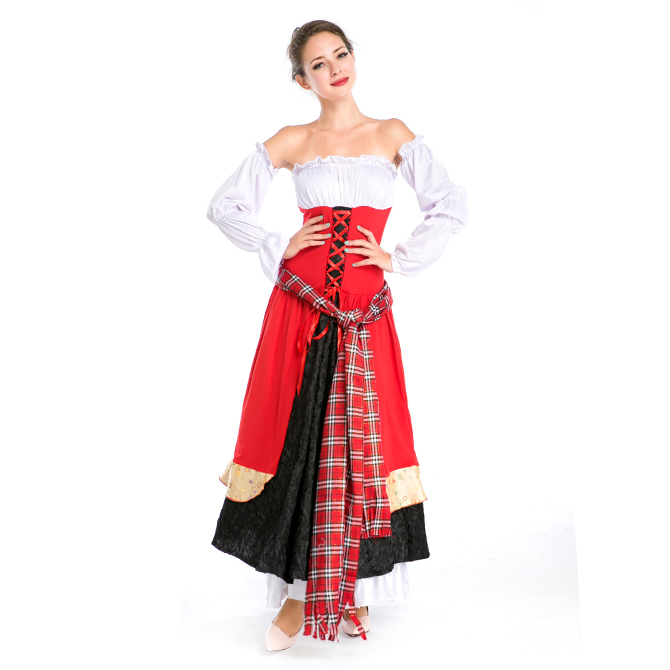 ハロウィン バーウェイター ウェイトレス ビールガール 宮廷風 中世期 ヨーロッパ風 コスプレ衣装 ps3561