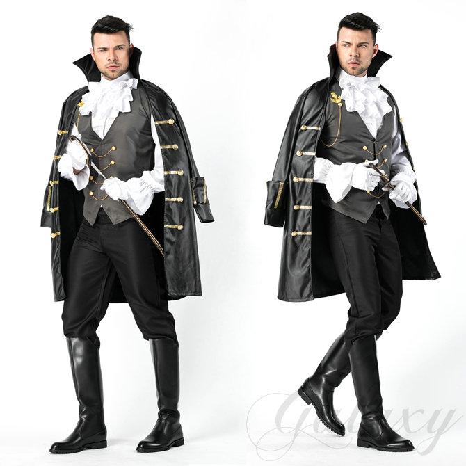 ハロウィン ヴァンパイア 悪魔 吸血鬼 ナイト ヨーロッパ風 騎士 男性 メンズ コスプレ衣装 ps3472