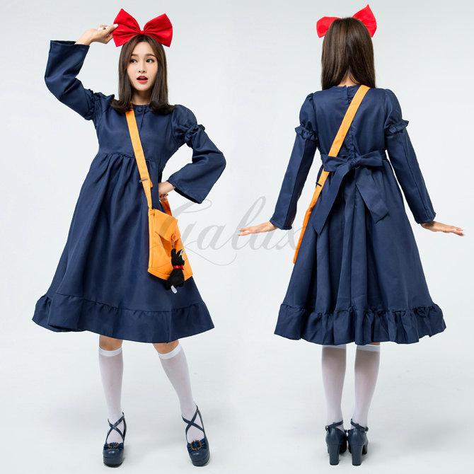 ハロウィン 魔女 デビル 小悪魔 魔法使い ウィッチ ブルー ワンピース コスチューム コスプレ衣装 ps3479