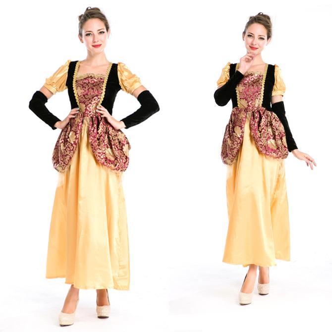 ハロウィン 宮廷風 中世期 ヨーロッパ風 女王 貴族 女神 プリンセス お姫様 コスプレ衣装 ps3567