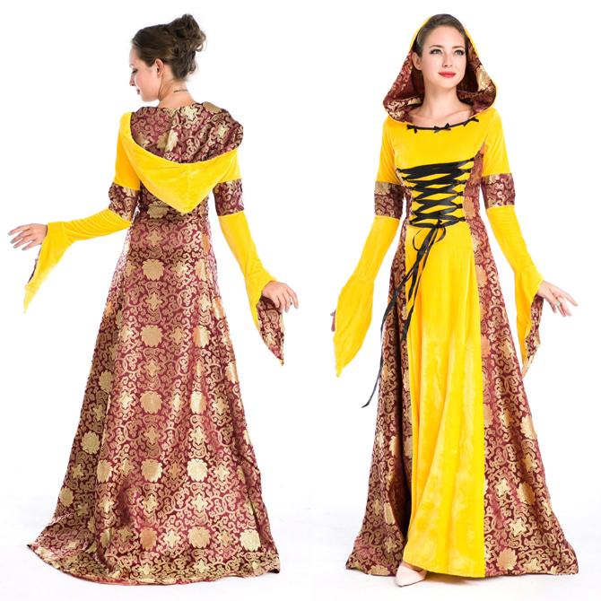 ハロウィン 宮廷風 中世期 ヨーロッパ風 女王 貴族 女神 プリンセス ドレス コスプレ衣装 ps3570