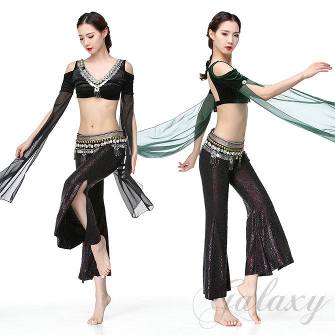 ATS ベリーダンス インドダンス 2色 3点セット 豪華 発表会 舞台 演出 ダンス衣装 rys01647t【送料無料】