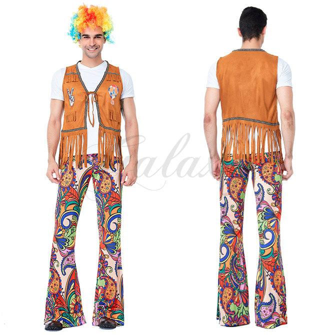 ハロウィン ヒップホップ HIPHOP ダンス 民族衣装 欧米風 男性 メンズ お揃い ペアルック コスプレ衣装 ps3598