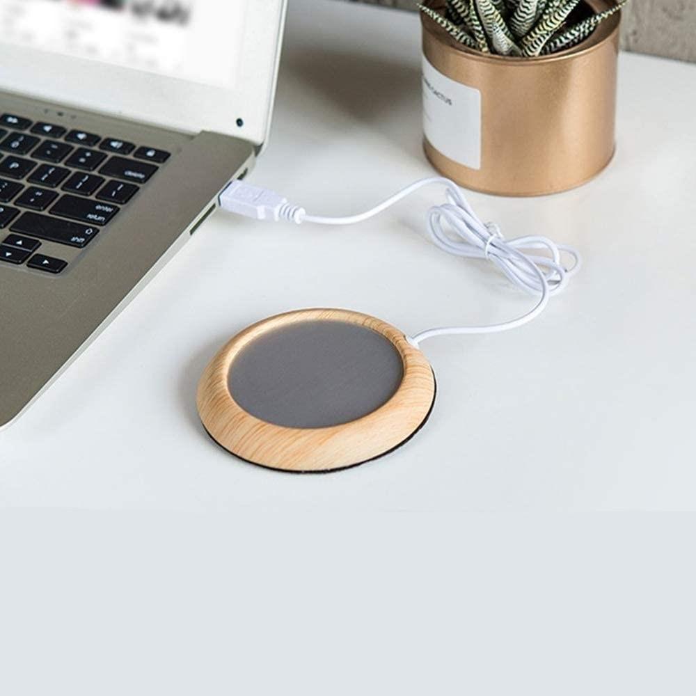 コーヒーや紅茶をちょうど良い温度を保ちませんか? 【翌営業日配送】カップウォーマー ホットコースター コーヒー 紅茶 マグカップ 保温 温める USB USB給電 おしゃれ インテリア 雑貨 PC 作業 仕事