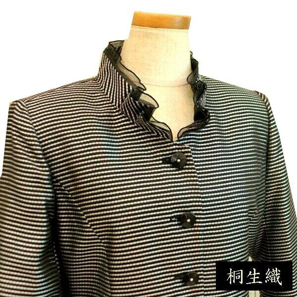 品のあるフォーマルジャケット日本屈指の素材 桐生織結婚式、食事会、お宮参りにミセス向け 50代 60代 70代