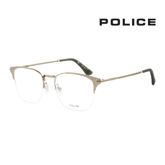 幅広い年齢層や 男女構わず憧れの魅力をお伝え致します POLICE ポリス メガネフレーム メンズ レディース 伊達眼鏡 並行輸入品 VPL565 8L7 優先配送 大人可愛い 上品 時間指定不可 オシャレ
