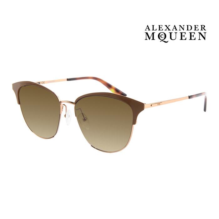 幅広い年齢層や 男女構わず憧れの魅力をお届けします Alexander McQueen アレキサンダー マックイーン 激安セール サングラス メンズ 激安超特価 UVカット レディース 大人可愛い 並行輸入品 上品オシャレ 003 MQ0106SK