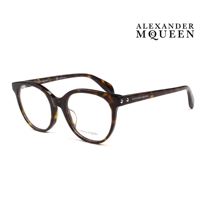 メガネ レビューを書けば送料当店負担 Alexander McQueen アレキサンダー マックイーン ふるさと割 メガネフレーム メンズ レディース 上品 オシャレ 大人可愛い 伊達眼鏡 002 AM0131OA 並行輸入品