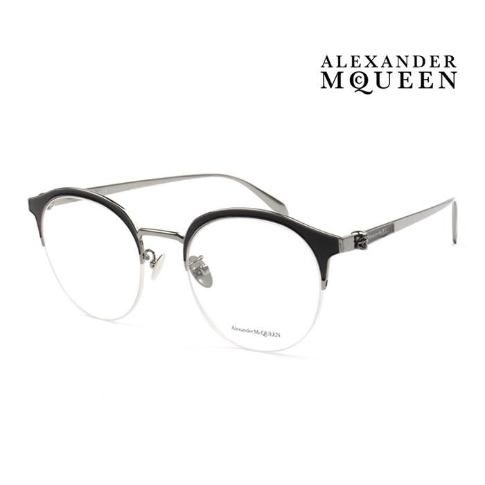 メガネ Alexander McQueen アレキサンダー マックイーン メガネフレーム メンズ レディース 超人気 大人可愛い 上品 オシャレ 002 伊達眼鏡 AM0203OA ショップ 並行輸入品