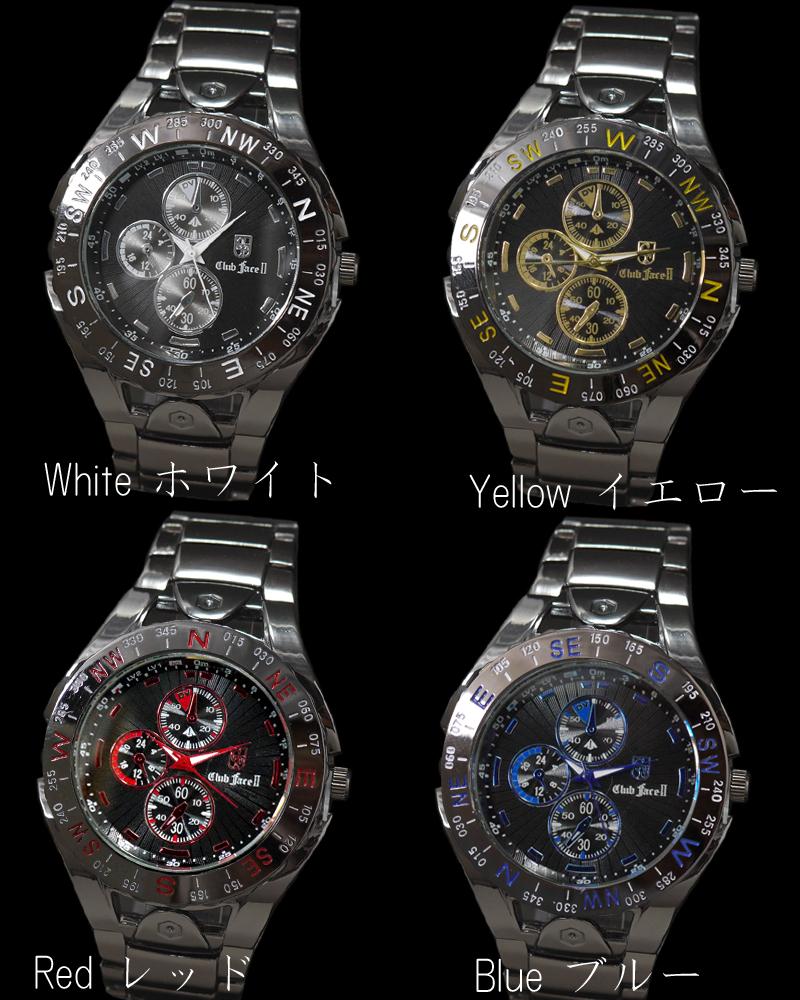 黑色金屬帶人表◇-clubface-人手錶CF-4710