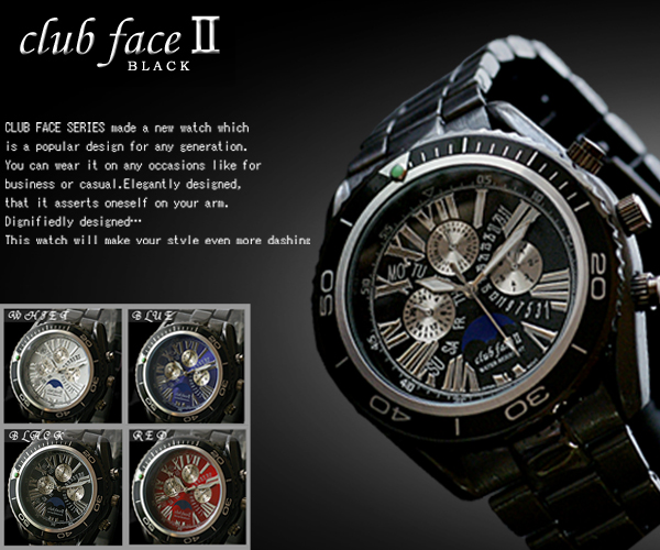 기간 한정♪SALE☆인기 모델!!⇒맨즈 워치 clubface 블랙 라인 손목시계 CFB-1033 M