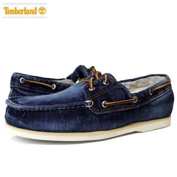 Timberlandティンバーランドメンズデニム デッキシューズ スリッポン ボートシューズ 靴 スニーカー ICON CLASSIC 2 EYE BOAT DENIMBLUE DENIM ブルー デニム6750Bあす楽対応2DYWEHI9
