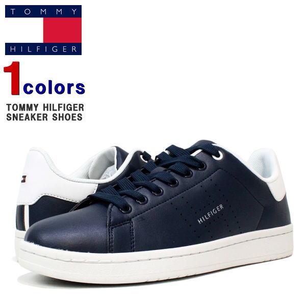 トミー スニーカー TOMMY HILFIGER (トミーヒルフィガー) メンズ レザースニーカー スニーカー 靴 シューズ 革 レザー TM LISTON LETHER SHOES (DARK BLUE) LISTON-DB 【あす楽対応】