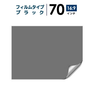 プロジェクタースクリーン 【3年保証/全国送料無料】 フィルムタイプ 70インチ(16:9)  背面投影フィルム ブラック シアターハウス bf-1550-872
