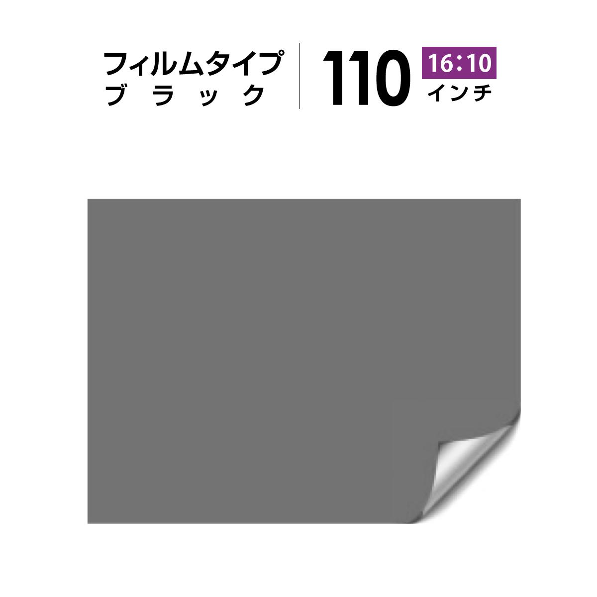 シアターハウス プロジェクタースクリーン 背面投影 110インチ フィルムタイプ (16:10) ブラック BF-2369-1481