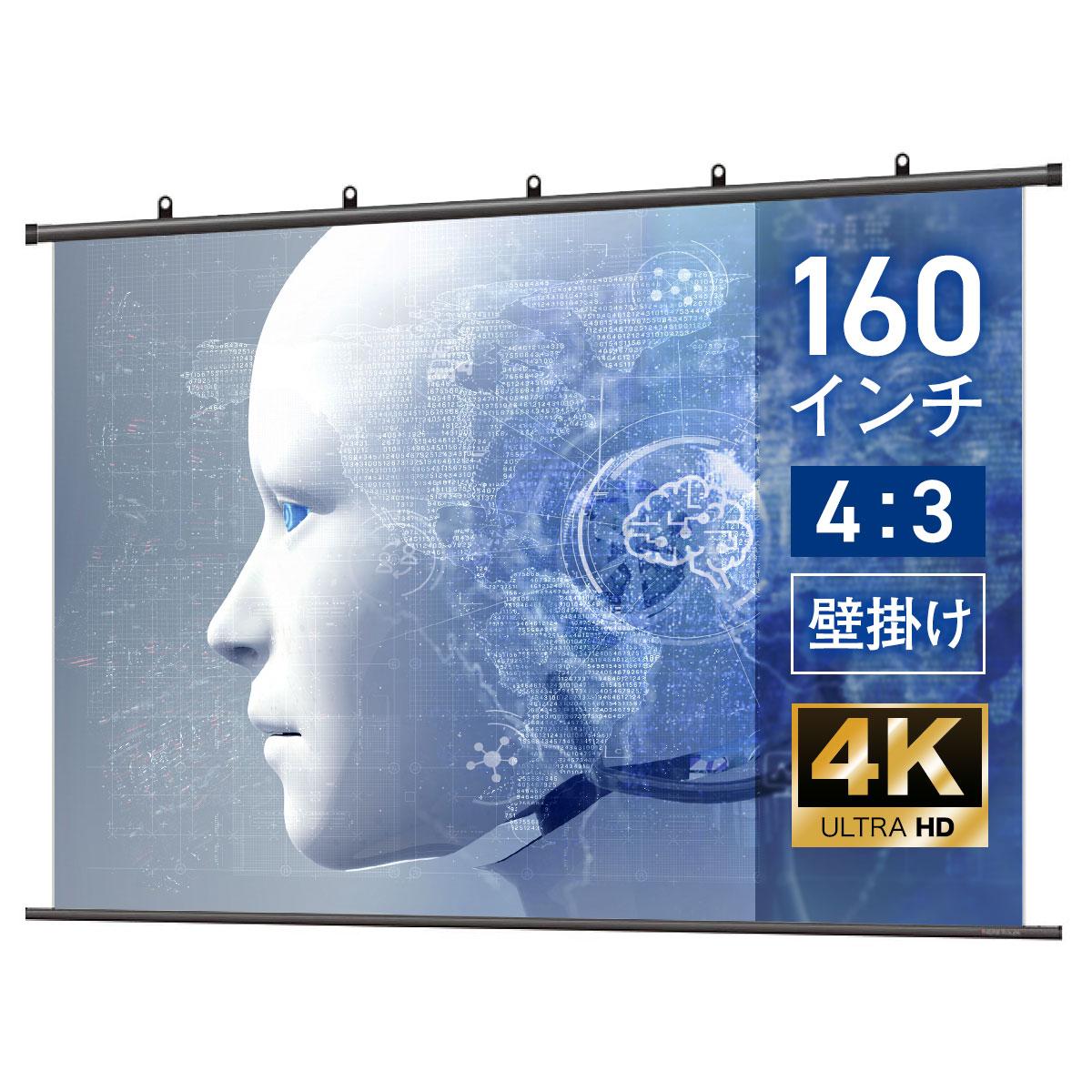 最高の品質 シアターハウス 4K対応 プロジェクタースクリーン 4K対応 BTP3252NEH 160インチ (4:3) タペストリー(掛け軸)タイプ マスクフリー マスクフリー BTP3252NEH, 大人気新品:690ce6bc --- esef.localized.me