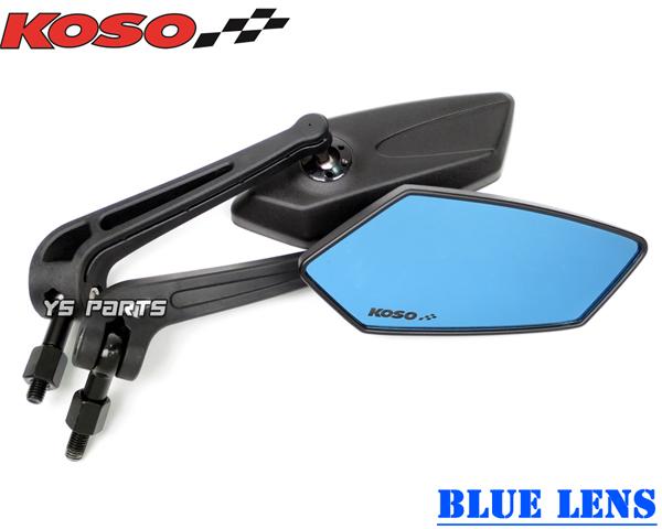 【本物正規品】KOSO GTミラー青レンズ エイプ50エイプ100XR100モタードジョルノクレアスクーピータクトズーマージャイロXトゥデイモンキーゴリラダックス