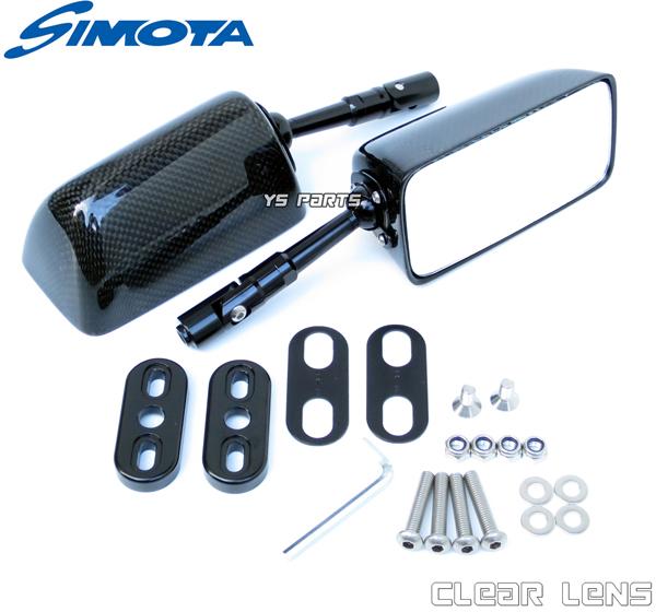 【リアルカーボン】特注本物のカーボンミラー スクエア/白 CBR1100XXスーパーブラックバードT-MAXZRX1200SGPZ900RZZR1200