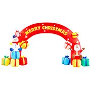 エアブロウ クリスマスアーチ2018 クリスマス サンタクロース エアーディスプレイ エアブロウ エアブロー 飾り 飾り付け 装飾 クリスマスツリー