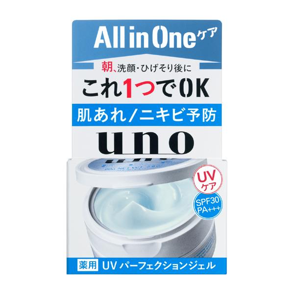 1品で肌あれ ニキビ予防 SALE開催中 紫外線ケアまでできるオールインワンジェル UNO ウーノ SPF30 80g 全国一律送料無料 UVパーフェクションジェル PA+++