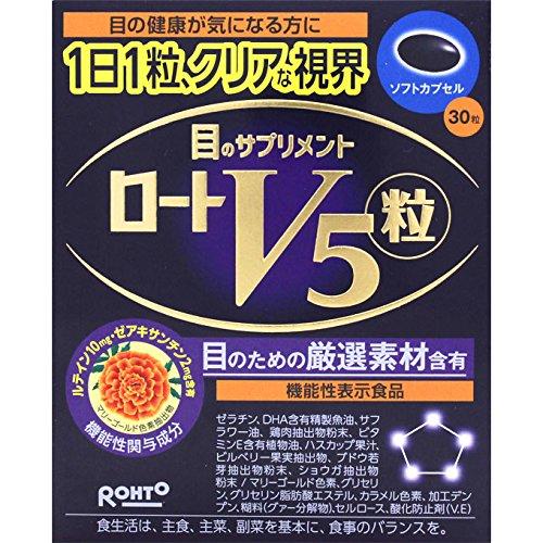 見る力 限定特価 直送商品 をサポートする機能性表示食品 ロート製薬 ロートV5粒 30粒