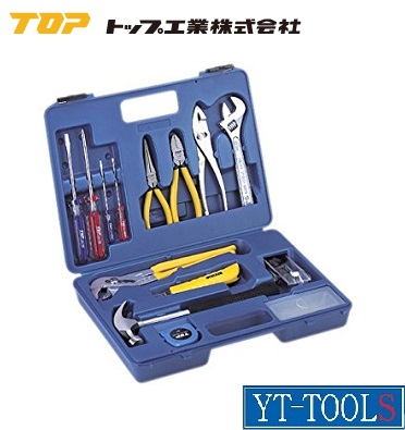 TOP工業 ファミリーツールブルー【型式 TTS-500】《TOP製工具セット/16点セット/プロ/職人/DIY》※メーカー取寄品