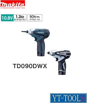Makita 充電式インパクトドライバ【型式 TD090DWX】《穴あけ・締付け工具/フルセット/10.8V/小型・軽量/プロ/職人/DIY》