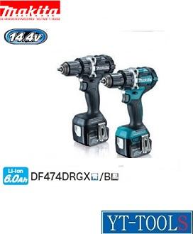 Makita(マキタ) 充電式ドライバドリル【型式 DF474DRGX(B)】《電動工具/コードレス/ドリルドライバー/プロ/職人/整備/現場/工場/DIY/14.4V 6.0Ah/フルセット》