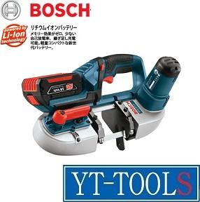 BOSCH(ボッシュ) バッテリーバンドソー【型式 GCB18V-LI】《電動工具/18V/上向き作業もらくらく/3.0Ah/コードレス/プロ/設備工/DIY/フルセット》