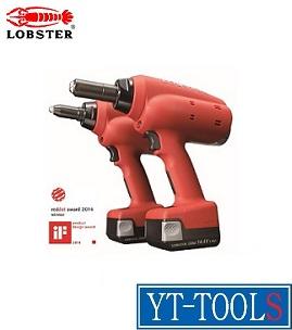 LOBSTER(ロブスター) コードレスリベッター【型式 R1B1】《金物・建築資材/ファスニングツール/電動式リベッター/プロ/職人/整備/DIY》