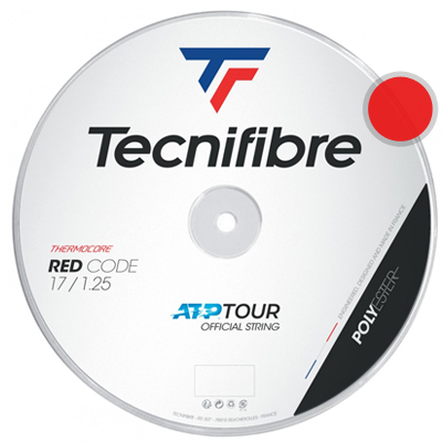 テクニファイバー(Tecnifiber) プロレッドコード(Pro Red Code) 1.30mm/1.25mm/1.20mm 200mロール ポリエステルストリングス レッド【あす楽】