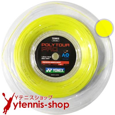 ヨネックス(YONEX) ポリツアープロ(Poly Tour Pro) 1.30mm/1.25mm 200mロール ポリエステルストリングス イエロー【あす楽】