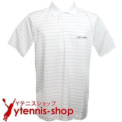カッターアンドバック(Cutter & Buck)USオープンテニス オフィシャル商品 メンズ ポロシャツ ストライプ ホワイト/グレー【あす楽】