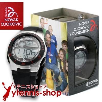 NDFノバクジョコビッチファウンデーション LORUS 腕時計 ジョコビッチモデル ブラック【あす楽】
