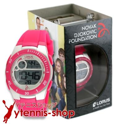 セール品 NDFノバクジョコビッチファウンデーション LORUS 腕時計 ジョコビッチモデル ピンク【あす楽】