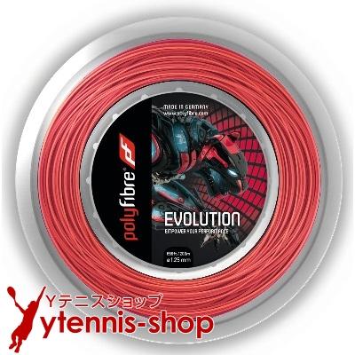 ポリファイバー(Polyfibre) エボリューション(Evolution) 1.30mm/1.25mm/1.20mm 200mロール ポリエステルストリングス レッド【あす楽】