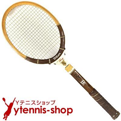 ヴィンテージラケット ウイルソン(WILSON) ビリー・ジーン・キング オートグラフ Billie Jean King autograph 木製 テニスラケット【あす楽】