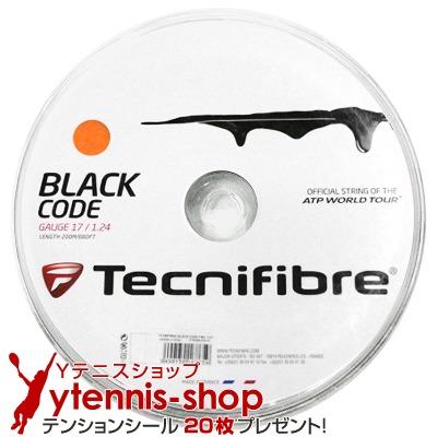 【旧パッケージ アウトレット】テクニファイバー(Tecnifiber) ブラックコード ファイア(Black Code Fire) 1.28mm/1.24mm 200mロール ポリエステルストリングス【あす楽】