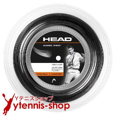 ヘッド(HEAD) ソニックプロ(SONIC PRO) 1.30mm/1.25mm 200mロール ポリエステルストリングス ブラック【あす楽】