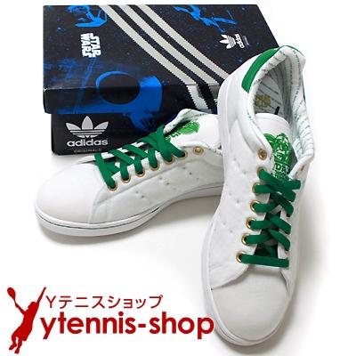 超超激レア!!!!アディダス(adidas)×スターウォーズ(STAR WARS)コラボ 限定テニスシューズ ホワイト/グリーン【あす楽】
