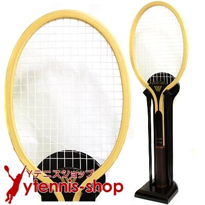 テニススクール・ショップに! 全長160cm 超巨大ウッドテニスラケット スタンド付きオブジェ 配送料金無料 組み立て不要【返品・交換不可】【あす楽】
