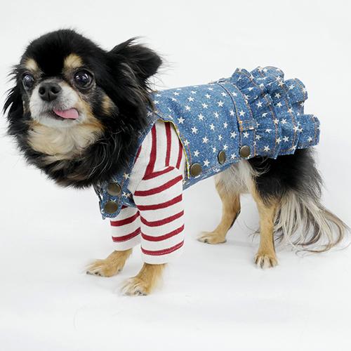 オンライン限定商品 犬服工房 型紙 ティアードサロペット型紙 供え 小型犬向け eco印刷