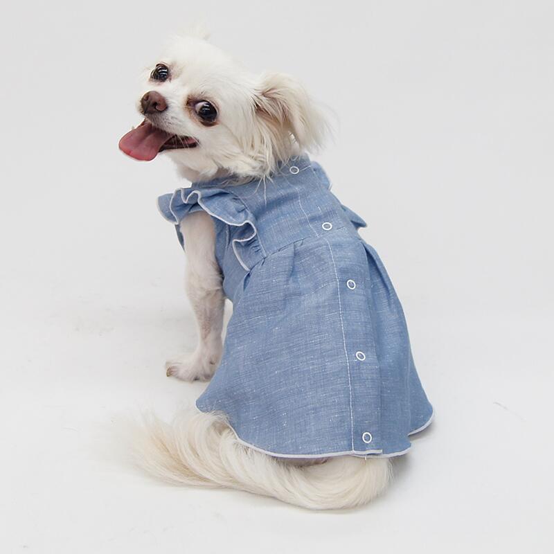 犬服工房 低廉 アイテム勢ぞろい 型紙 サイドフリルワンピース型紙 大きな小型犬ML~XL ばらばら印刷