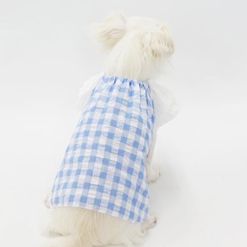 ティアードスリーブスモック型紙 ばらばら印刷 超小型犬XXS~SS