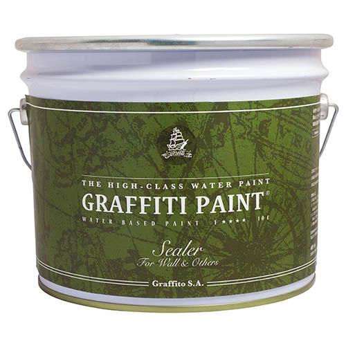 グラフィティーペイント GFS 10L プロ用シーラー(透明)グラフィティーペイント[1個] Graffiti Paint /ペンキ/水性塗料/ タバコのヤニ、アクの染み出しを防止/塗料・塗装専用/下塗り・下地剤/リノベーション