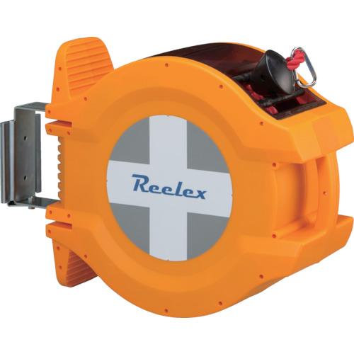 メーカー直売 安全用品各種取り揃えております 新生活 TRReelex 赤色ロープ20m バリアロープリール