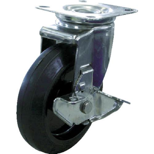 TR ユーエイ ステンレスキャスターシングルS付自在車 150径ナイロンホイルゴム車輪 注文単位:1個