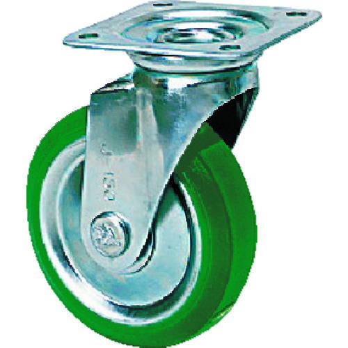 TR シシク スタンダードプレスキャスター ウレタン車輪 自在 250径 注文単位:1個
