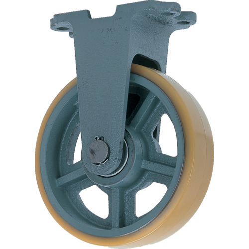 TR ヨドノ 鋳物重荷重用ウレタン車輪固定車付き UHBーk250X65 注文単位:1個